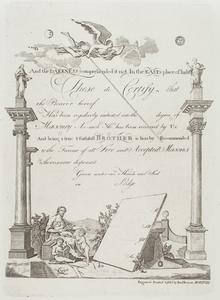 Masonic Certificate