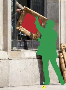 "Poster for the exhibition ""L'image volée"" at Fondazione Prada"