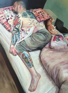 Man in single bed