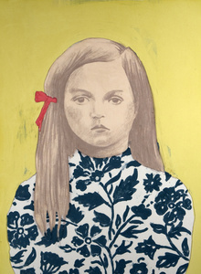 Girl 3, Red Ribbon