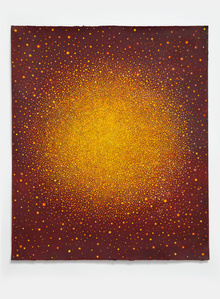 Untitled (Yellow-Orange Sun on Red)