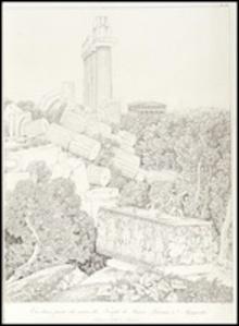 Vue dune partie des du temple de junon lacinia a agrigente
