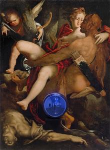 Gazing Ball (Spranger Hercules, Deianira, and Centaur Nessus)