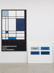 Farbengeografie (Blau) nach Mondrian, unique