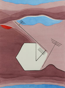 Untitled (Abstract with Black Lines)