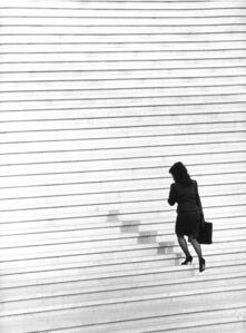 Paris. La Defense, Treppe zu Grand Arche II