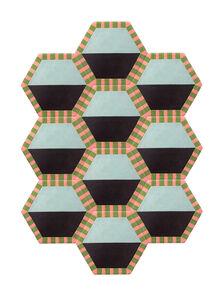 Extended Honeycomb - Sky / Thunder Color Split