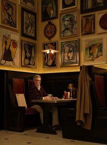 Artist in Artists' Bar, 1950's