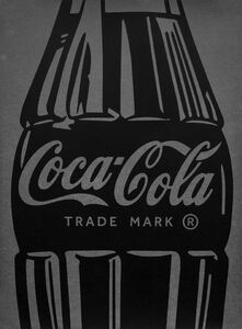Single Coca-Cola (black on silver)