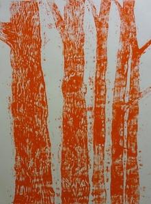 Woodblock no. 2 (Orange)