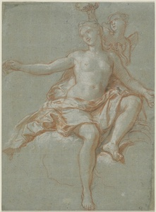 Cupid Stealing Venus' Floral Crown