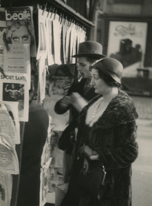 Man and Woman at News Stand, c.1929