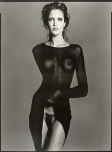 Stephanie Seymour, Robe by Comme des Garçons, NYC, May 9, 1992