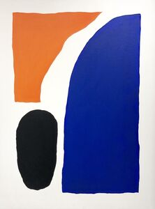 Shapes in orange, blue and black II
