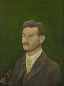Portrait d'homme à la chemise rayée