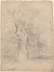 An Ancient Tree with Figures in a Landscape