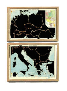 Serie: The Comparative Atlas. London 1948 GERMANY AND CENTRAL EUROPE, ITALY AND THE BALKANS