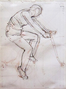 Study for Cyclist and Crow