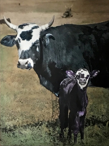 Blue Jean Mama with Purple Calf