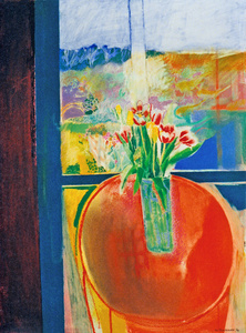 Tulip in a Glass Vase, Shanty Bay Spring