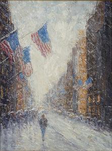 Snowy Flags Impressions