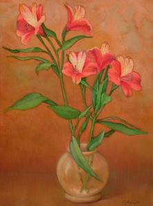 Flowering Alestroemena