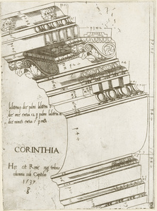 Entablature from the Temple of Vespasian, Rome