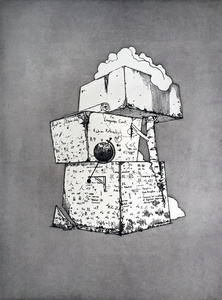 Little Tower of Remembered Power with Codex Graffiti (Cognitive Tools)