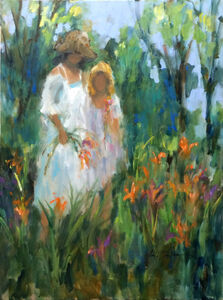 Sisters in Lily Garden