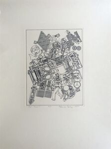 RARE Lithograph with personal dedication to Frank Martin, legendary head of sculpture department at St. Martin's School of Art