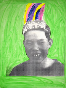 Indian Portraits: Late 20th Century Series: Green no. 3