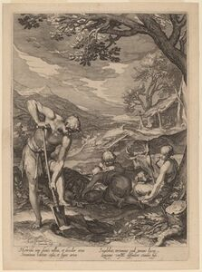 Adam and Eve Working