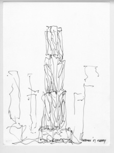 8 Spruce Street Design Sketch and Volume Study, New York