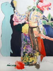 Matador Saluting Roses in a Glass Vase and Standing Male Nude,