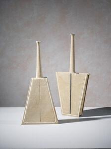 Pair of geometric sculptures