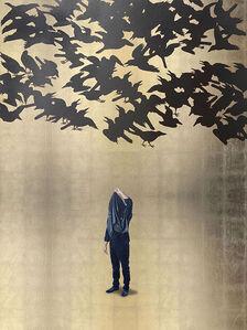 Acto para repensar el deslumbramiento con parvada de sombras (Japón S. VII)