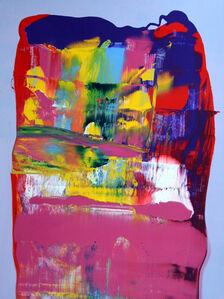 Big Colourful Scrape Scrape Scrape Painting