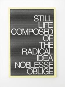 Untitled / Noblesse Oblige