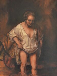 Woman Bathing (Rembrandt)