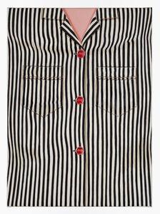 Striped Shirt (Black, One Pocket)