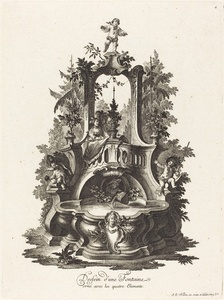 Dessein d'une Fontaine orné avec les quatre Elements (Design for a Fountain Decorated with the Four Elements)