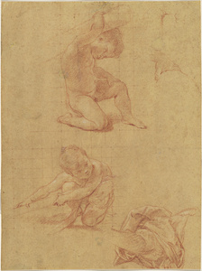 Study Sheet with Two Putti