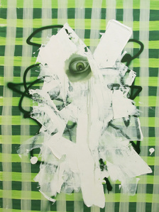 Untitled, Portrait With Green Painted Eye
