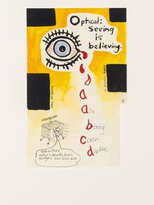 Notepad Drawings: Optical: Seeing is Believing