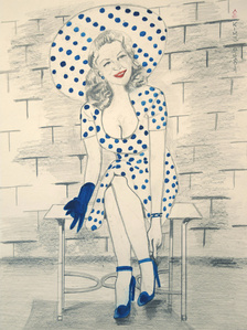 Woman in Polka Dot Dress