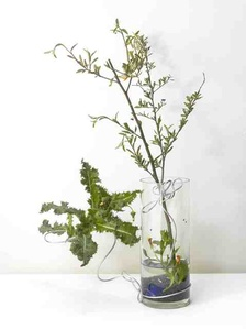 A work for a building plot: Make a flower arrangement for me
