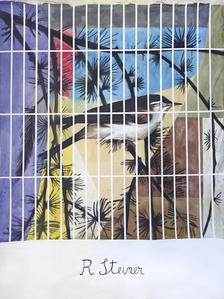 Rudolph Steiner in a cage