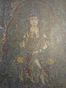 Bodhisattva Manjusri consecrated in GuanYin Temple in Xinjin
