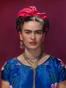 Frida Kahlo in Blue Blouse