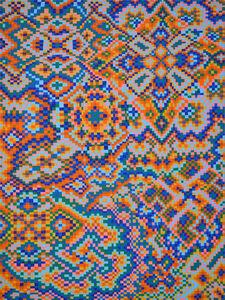 Orange/Blue Grid #2